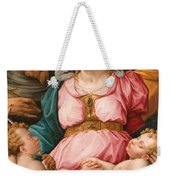 Holy Family With The Infant Saint John The Baptist And Saint Francis Weekender Tote Bag by Giorgio Vasari