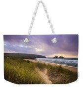 Holywell Bay Spectacular Sunset Weekender Tote Bag