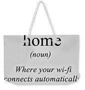 Home And Wifi Weekender Tote Bag
