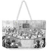 Home Economics Class, 1886 Weekender Tote Bag