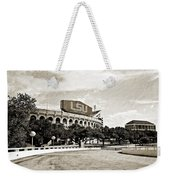 Home Field Advantage - Sepia Toned Texture Weekender Tote Bag