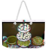 Home For The Holidays - Use Red-cyan 3d Glasses Weekender Tote Bag