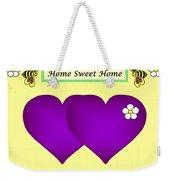 Home Sweet Home Purple Hearts 1 Weekender Tote Bag