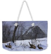Home Through The Snow Weekender Tote Bag