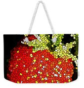 Homegrown Strawberry Mosaic Weekender Tote Bag