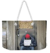 Homeless In The Usa Weekender Tote Bag