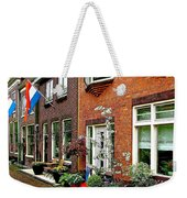 Homes Along The Canal In Enkhuizen-netherlands Weekender Tote Bag