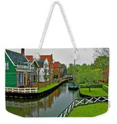 Homes Near The Dike In Enkhuizen-netherlands Weekender Tote Bag