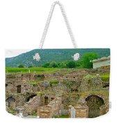 Homes Of The Rich In Central Ephesus-turkey Weekender Tote Bag