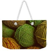 Homespun Holiday Weekender Tote Bag