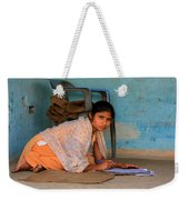 Homework Without A Desk Weekender Tote Bag by Amanda Stadther