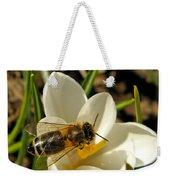 Honey Bee And Crocus Weekender Tote Bag