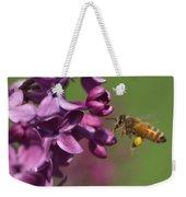 Honey Bee And Lilac Weekender Tote Bag