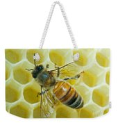 Honey Bee In Hive Weekender Tote Bag
