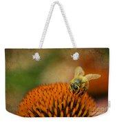 Honey Bee On Flower Weekender Tote Bag by Dan Friend