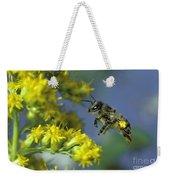 Honeybee In Flight Weekender Tote Bag