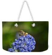 Honeybee On California Lilac Weekender Tote Bag
