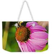 Honeybee On Echinacea Flower Weekender Tote Bag