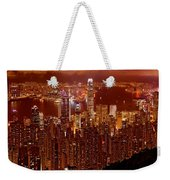 Hong Kong In Golden Brown Weekender Tote Bag