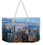 Hong Kong At Dusk Weekender Tote Bag