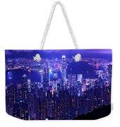 Hong Kong In Purple Weekender Tote Bag