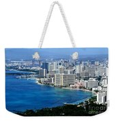 Honolulu And Waikiki From Diamond Head Weekender Tote Bag