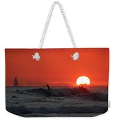 Honolulu At Sundown Weekender Tote Bag
