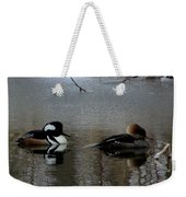 Hooded Merganser Mates Weekender Tote Bag