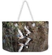 Hooded Merganser Mirror Weekender Tote Bag