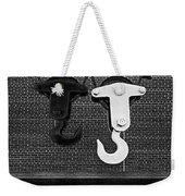 Hook Me Up Bw Weekender Tote Bag by Susan Candelario