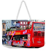 Hop On And Hop Off Bus In Bergen Weekender Tote Bag