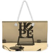 Hope And Chairs In Sepia Weekender Tote Bag
