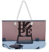 Hope And Chairs Weekender Tote Bag