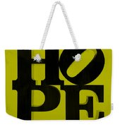Hope In Yellow Weekender Tote Bag