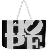 Hope Inverted Black Weekender Tote Bag