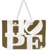 Hope Inverted Brown Weekender Tote Bag