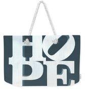 Hope Inverted Denim Weekender Tote Bag