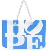 Hope Inverted Light Blue Weekender Tote Bag