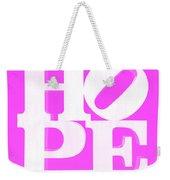 Hope Inverted Pink Weekender Tote Bag