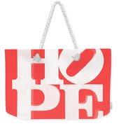 Hope Inverted Red Weekender Tote Bag