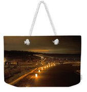 Horicon Marsh Candlelight Snow Shoe/hike Weekender Tote Bag