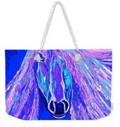 Horse Abstract Blue And Purple Weekender Tote Bag