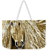 Horse Abstract Neutral Weekender Tote Bag