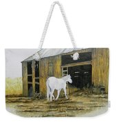 Horse And Barn Weekender Tote Bag by Bertie Edwards