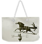 Horse And Buggy Weathervane In Sepia Weekender Tote Bag by Ben and Raisa Gertsberg