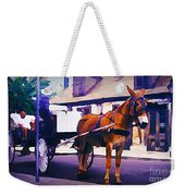 Horse And Carriage In Front Of Lafitte's Blacksmith Shop  Weekender Tote Bag
