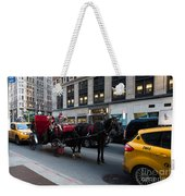 Horse And Carriage Nyc Weekender Tote Bag