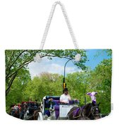 Horse And Carriages Central Park Weekender Tote Bag