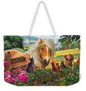 Horse And Cats Weekender Tote Bag