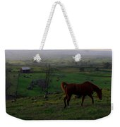 Horse And Farmhouse Weekender Tote Bag